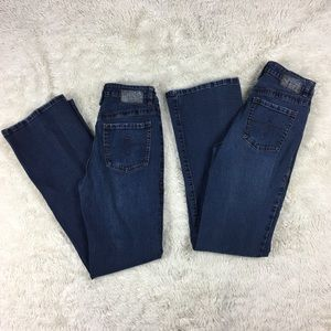 Lot of 2 Sz 4 Jag Jeans Bootcut Mid Rise Jeans. B6
